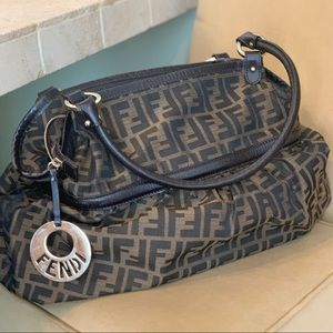 Authentic Fendi bag with Fendi gold hardware.